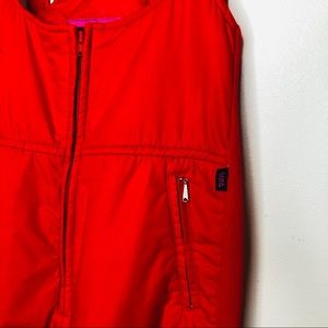 Vintage Pants & Jumpsuits - 1980s ESP Flare Quilted Ski Pants Bright Red Large